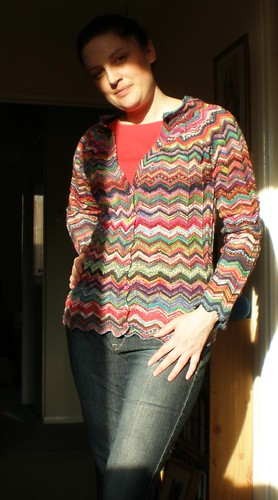 Sock Yarn Ripple Cardigan