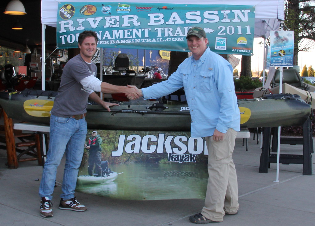 Eric Boyd wins a Jackson Kayak Coosa at the River Bassin Tournamant Trail
