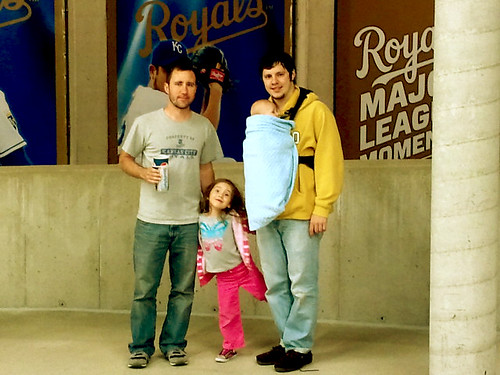 Nick, Eliza, Jonas and Jake at Royals Stadium