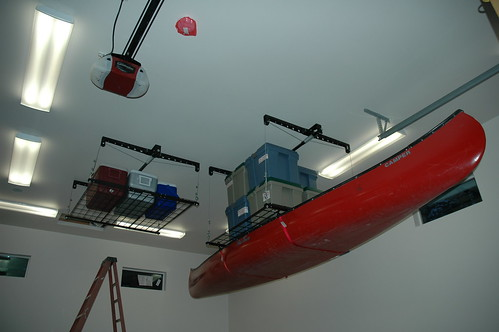 Garage Storage & Turtle Expedition » Mechanical lifts add storage space to our new garage
