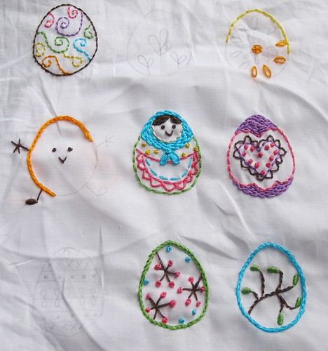 Egg Sampler WIP -- free pattern