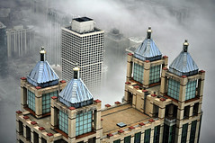 Chicago 900 N. Michigan in fog (doug.siefken) Tags: chicago art fog john michigan n center observatory hancock 900 jhc jho siefken dougsiefken