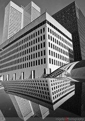 MONTREAL/reflections III (inigolai) Tags: city travel blue sky canada streets architecture buildings reflections shadows montreal towers streetphotography cityscapes olympus planet northamerica e3 zuiko skycrapers lacite zd personalfavorites skycrappers distorsions perfectcomposition freephotos worldlandscapes lovelycity 1260mm travelplanet blackartwhite cestdanslaboite