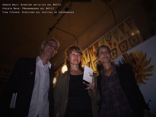 Sergio Wolf, Tina Fischer y Violeta Bava