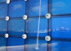 Biscayne Bay, Reflected (Jon Matthies) Tags: blue abstract reflection water glass bay jon miami fl biscayne matthies jonmatthiesphotography