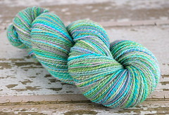 "Dashing Dachs' ""Jigsaw #5"" 2ply Superfine Merino Handspun"