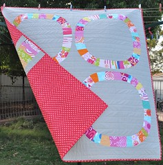 Single Girl Baby Quilt (Stitch 'n' Bits) Tags: denyseschmidt printscharmingfabric singlegirlquilt