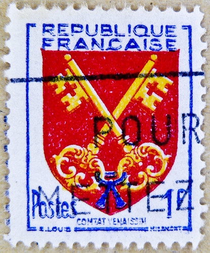 french stamp France 1 f postage poste timbre Republique Francaise selo francobolli Francia