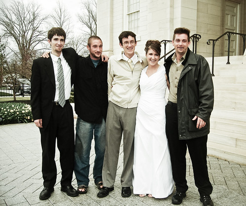 My brothers and me on my wedding day. Love these men.