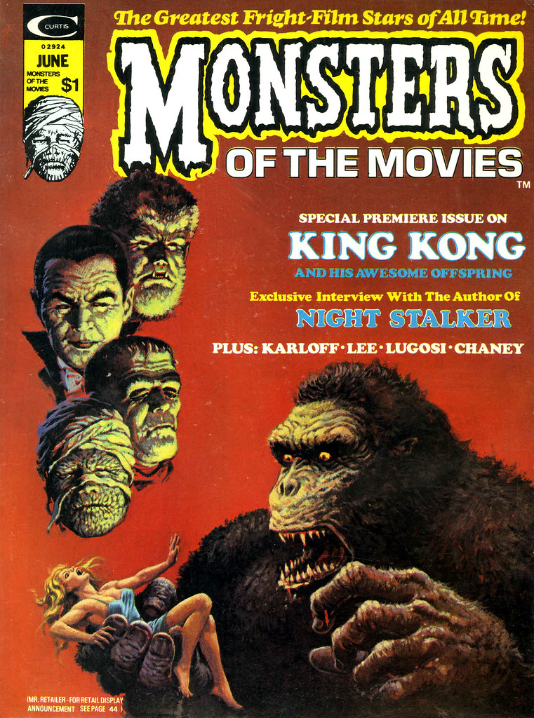 Monsters Of The Movies, Issue 1 (1974) Cover Art by Luis Domingquez
