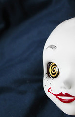 Preview :P (RequiemArt.com) Tags: face scary doll paint ooak painted clown evil customized requiem custom dgrequiem requiemart