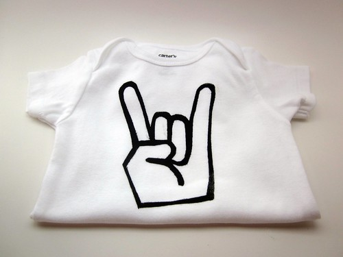 Baby boy Rocker onesie