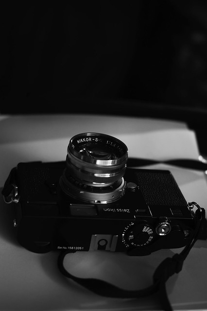 Nikkor-S.C F1.4/5cm+KIPON Adapter Contax-L39+L39-Leica M+Zeiss Ikon