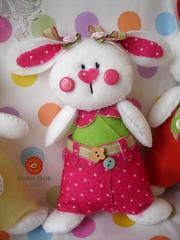 Fofucha (mariafloratelier2) Tags: rabbit easter páscoa feltro coelho fitas botões