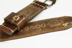 DaLuca Ammo 5 (leicaboss) Tags: leather vintage logo swiss pam ammo buckle base 000 straps brushed panerai prev daluca