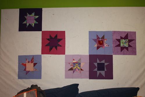 A Dozen Quilters - Purple Wonky Stars