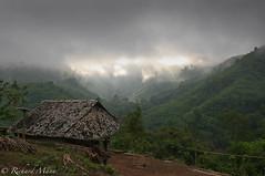 shining thru (chad86thai) Tags: sun mountain green thailand ray village rays