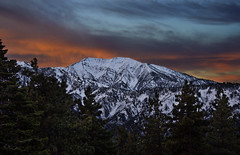Mt Baldy Sunrise (M-Kuhns) Tags: morning trees winter red mountain snow wrightwood sunrise la losangeles nikon vibrant ridge socal southerncalifornia inspirationpoint angelesnationalforest mtbaldy d90 mtsanantonio