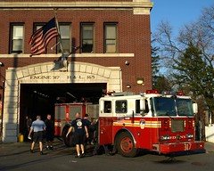 """E317e FDNY """"St. Albans Sleepless Knights"""" Engine 317, Queens, New York City (jag9889) Tags: county city nyc house ny newyork building station architecture truck fire engine company queens knights jamaica borough firehouse fdny department firefighters stalbans seagrave bravest 317 2011 e317 sleeplessknights engine317 battalion54 y2011 jag9889"""