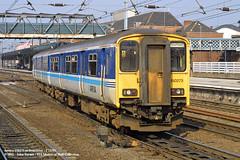 17/03/2003 - Doncaster. (53A Models) Tags: train diesel railway doncaster southyorkshire arriva sprinter passengertrain dmu class150 150275