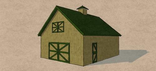 24'x30' Gable Barn