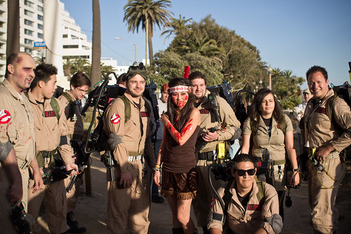 zombie indian girl and the ghostbusters