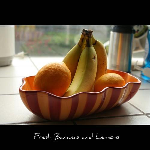 Fresh Bananas and Lemons