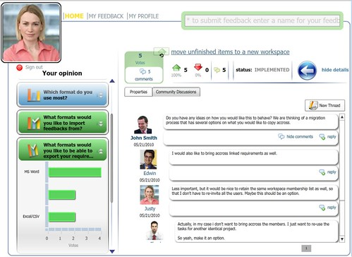 Business collaboration - customer portal