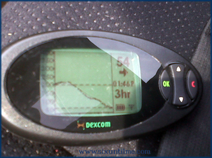 The photo quality is kind of crap, but I was in my car, my blood sugar was 54 mg/dl, and I was sitting in a sunny parking lot.  Not the most ideal photographic circumstances.  Also, this alt text is longer than the blog post.
