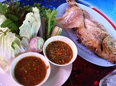 ปลาทับทิมเผา