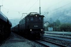 116 008  Eschenlohe  30.04.77 (w. + h. brutzer) Tags: analog train germany deutschland nikon eisenbahn railway zug trains db locomotive 116 lokomotive e16 elok eisenbahnen eschenlohe eloks webru