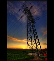 Energy (Kemoauc) Tags: blue sunset sky orange cloud colour green field photoshop nikon energy sonnenuntergang himmel wolken grn hdr frhling topaz d90 photomatix nikond90 hdrterrorist kemoauc