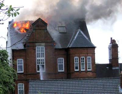 Enderby Old Bank Fire
