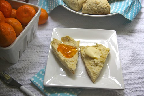 butter on one side apricot jam on the other