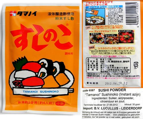 zakje sushi azijn poeder