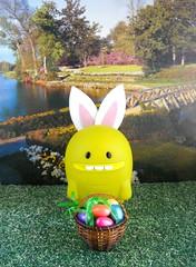Happy Easter from the Easter Turtle! (tomo_moko) Tags: rabbit bunny easter happy basket turtle ears eggs uglydoll uglydolls plastic52