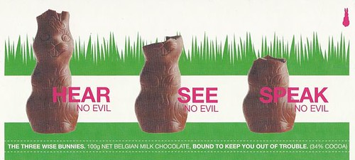 3 wise bunnies