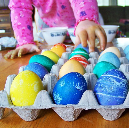 Our colored eggs