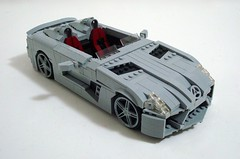 Mercedes-Benz SLR Stirling Moss Edition (Lino M) Tags: slr car silver germany grey mercedes benz moss lego stirling racing german mclaren build edition 2009 challenge lino lugnuts roadster autosausdeutschland