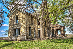 Kansas Stone House (Cassaw [Creative]) Tags: abandoned decay kansas abandonment hdr ruraldecay stonehouse ruralexploration diplapidated
