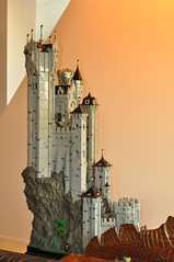 Eaglecrest Keep (CheesySlopes) Tags: roof cliff black tower castle classic rock wall tile lego eagle medieval falcon keep knight middle fortress ages turret slope falcons burp eaglecrest 6074 10039 foitsop