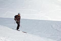 Patient skier