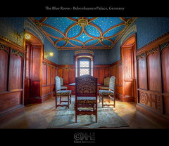 The Blue Room - Bebenhausen Palace, Germany (HDR) (farbspiel) Tags: blue red history abbey photoshop germany logo geotagged nikon interior wideangle palace historic monastery handheld schloss dri deu hdr kloster watermark hdri topaz tübingen adjust superwideangle infocus bebenhausen 10mm postprocessing badenwürttemberg ultrawideangle photomatix jagdschloss wasserzeichen tonemapped tonemapping denoise watermarking detailenhancer huntingpalace d7000 sigma1020mmf35exdchsm geo:lat=4856122968 geo:lon=906140327