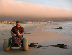 Asilomar State Beach (Yieldsigns76) Tags: beach wheelchair kelp craig notme pacificgrove asilomar craigers