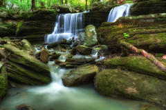 Big Piney Falls (jball359) Tags: canon waterfall tripod slowshutter arkansas hdr dover xsi circularpolarizer bigpiney promaster photomatix usforestryservice 1740mmf4lusm niksoftware glamorglow longpoolrecreationarea pse9 photoshopelements9