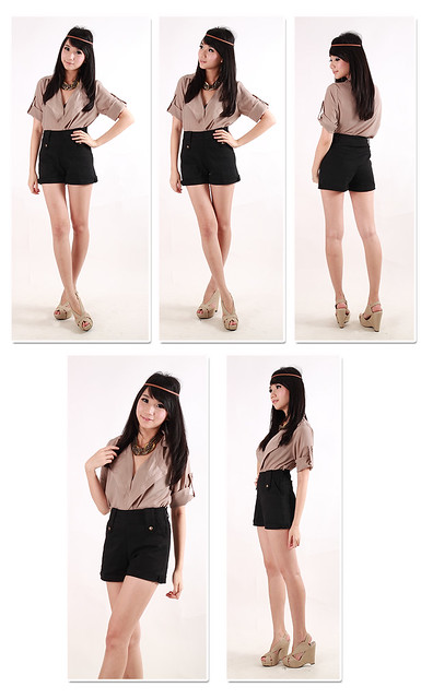 Flap Blouse in Mocca