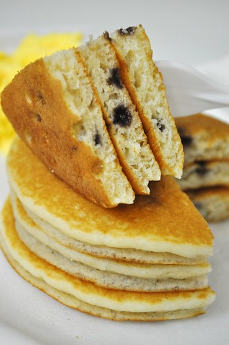 blueberry pancakes upclose