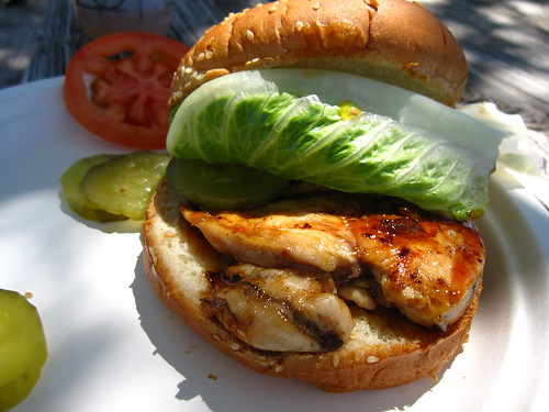 Teriyaki Chiken Burger at Junction Cafe rest stop