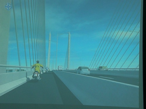 Second Penang bridge under construction - 25 April