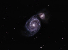M51 The Whirlpool Galaxy 3 May 2011 - closer crop (BudgetAstro) Tags: nikond70 galaxy astrophotography m51 galaxies dss dso whirlpoolgalaxy astroimaging ngc5194 ngc5195 deepskystacker deepskyobject messier51a messier51 Astrometrydotnet:status=solved Astrometrydotnet:version=14400 Astrometrydotnet:id=alpha20110504660243